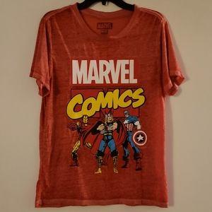 Red Marvel Comics T-Shirt
